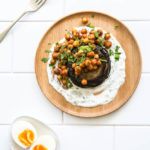 roast eggplant with spiced chickpeas